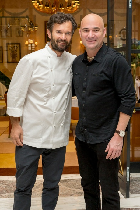 Longines & Andre Agassi Together with Cracco cook 05/11/2013 Milano